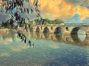 Beautiful Scenery Paintings - Il Ponte by Taylan Soyturk