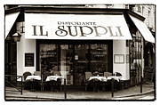 Italian Restaurant Photo Posters - IL Suppli Poster by John Rizzuto