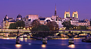 Pont Des Arts Posters - Ile de la Cite and Pont des Arts / Paris Poster by Barry O Carroll