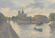 Three Rivers Paintings - Ile de La Cite by Julian Barrow