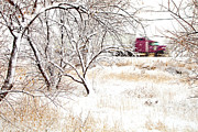 Snow Scene Prints - Ill Be Home For Christmas Print by Theresa Tahara