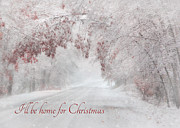 Christmas Holiday Scenery Art - Ill Be Home by Lori Deiter