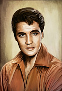 Singer Mixed Media Originals - Ill Remember You......ELVIS by Andrzej  Szczerski