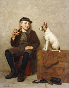 Smiling Painting Posters - Ill Share With You Poster by John George Brown