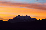 Silhouetted Posters - Illimani Sunrise Poster by James Brunker