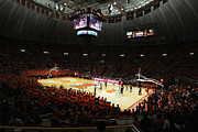 Hall Photo Prints - Illinois Fighting Illini Assembly Hall Print by Replay Photos