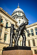 Municipal Metal Prints - Illinois Police Officers Memorial in Springfield Metal Print by Paul Velgos