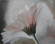 Gerbera Paintings - Illuminated Gerbera by Donna Tuten