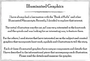 Book Title Art - Illuminated Graphics Info by Michael Lee