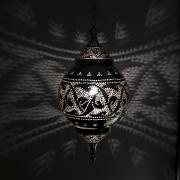 Featured Metal Prints - Illuminated Hanging Light Fixture Metal Print by Keith Levit