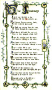 Illuminated Poem 1903 Print by Padre Art