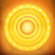 Solar Plexus Chakra Framed Prints - Illumination Mandala Framed Print by Soulscapes - Healing Art