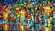 Rain Painting Framed Prints - Illusion  Framed Print by Leonid Afremov
