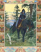 Slavic Painting Posters - Illustration for Vasilisa the Beautiful Poster by Pg Reproductions