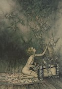 Rackham Metal Prints - Illustration from A Wonder Book by Nathaniel Hawthorne Metal Print by Arthur Rackham