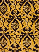 Yellow Tapestries - Textiles Prints - Illustration from Studies in Design Print by Christopher Dresser