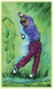 Golf Photo Framed Prints - Illustration Of A Golfer Framed Print by Design Pics Eye Traveller