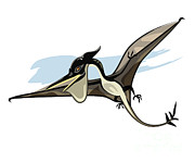 Pterodactyl Prints - Illustration Of A Pteranodon Dinosaur Print by Stocktrek Images