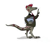 Illustration Of An Iguanodon Clerk Print by Stocktrek Images