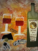 Lovers Art On Print Posters - Ilona Wine Poster by Dori Meyers