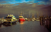 Panoramic Marina Framed Prints - Ilwaco Port Framed Print by Robert Bales