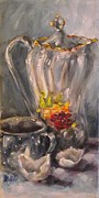 Teapot Painting Originals - Im All Cracked Up by Angela Sullivan by Angela Sullivan