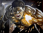 Hulk Painting Framed Prints - Im always Mad Framed Print by Al  Molina