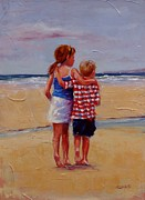 Children Painting Originals - Im Coming Too by Laura Lee Zanghetti