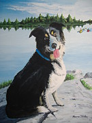 Lakeshore Paintings - Im Guarding the Camp by Norm Starks