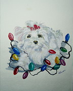 Puppies Originals - Im Helping by Carole Powell