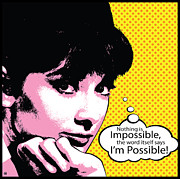 Vector Art Prints - Im Possible Print by Gary Grayson
