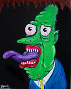 Green Monster Paintings - Im Sexy and I Know it by Brittany Galante