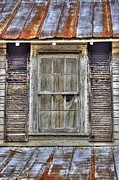 Weathered Shutters Framed Prints - Im Watching You Framed Print by Benanne Stiens