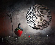 Surreal Art Paintings - Im Your Huckleberry by Shawna Erback by Shawna Erback