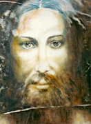 Altruism Painting Framed Prints - Image of Christ Framed Print by Henryk Gorecki