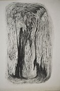 Image Of Face In Wood Bark Print by Glenn Calloway