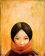 Portrait Mixed Media Posters - Image of Tibet Poster by Shijun Munns