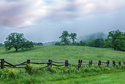 Storm Prints Photo Prints - Imaginary Morning on the Blue Ridge I Print by Dan Carmichael