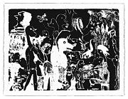 Crowd Scene Digital Art - Imaginative Etching 2 by Donna Haggerty