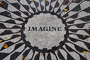 Mosaic Photo Framed Prints - Imagine a world of peace Framed Print by Garry Gay