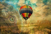 Hot Air Balloon Digital Art Prints - Imagine Print by East Coast Barrier Islands Betsy A Cutler
