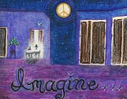 Yoko Pastels Posters - Imagine Poster by Jami Cirotti