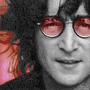 New York Mixed Media Originals - Imagine John Lennon Again by Tony Rubino