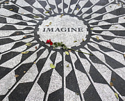 Lennon Digital Art - Imagine Mosaic by Mike McGlothlen