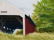 King Pastels Originals - Imes Bridge Madison County by Flo Hayes