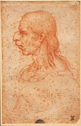 Caricature Framed Prints - Imitator Leonardo Da Vinci, Caricature Framed Print by Everett