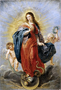 Famous Artists - Immaculate Conception by Peter Paul Rubens