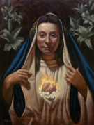 Contemplative Paintings - Immaculate Heart by Timothy Jones