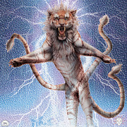 Liger Framed Prints - Immortal Power Framed Print by David Starr