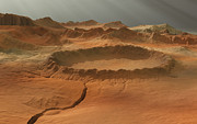 Render Originals - Impact Crater on Mars by Bijan Habashi